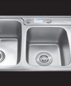 Chậu-rửa-bát-hai-bồn-có-bàn-SH-9245