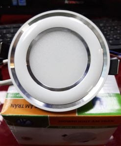 Downlight-đế-mũ-3-màu-ĐMC3W-viền-bạc-cong
