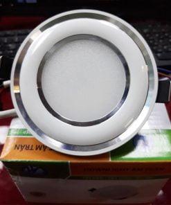 Downlight-đế-mũ-3-màu-ĐMC5W-viền-bạc-cong
