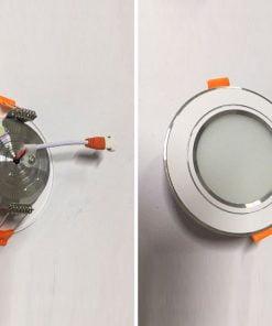 Downlight-đế-mũ-3-màu-viền-bạc-nhạt-5W