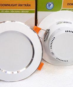 Downlight-liền-tụ-1104-7W-viền-bạc-3-màu