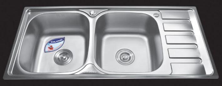 Chậu-rửa-bát-dập-2-hố-1-bàn-SH-10046