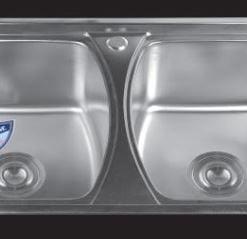 Chậu-rửa-bát-dập-2-hố-cân-SH-8146